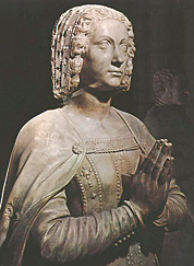Claude de France (1499–1524), Marmorstatue auf ihrem Grab in der Kathedrale Saint-Denis